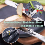Double-Sided Stainless Steel Vegetable Peeler