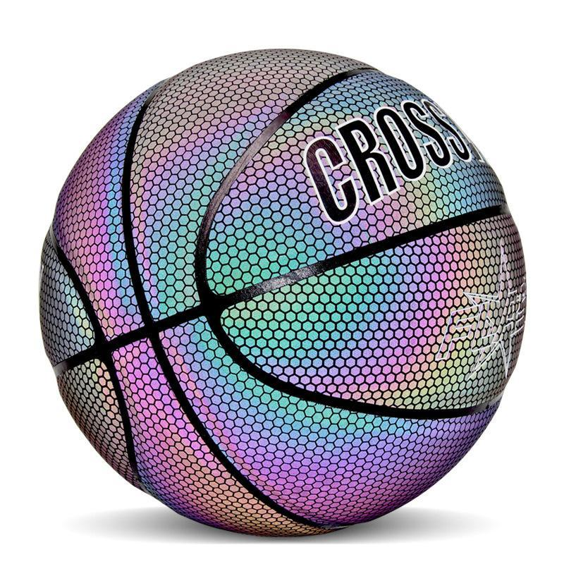 Holographic Glowing Reflective Basketball, 🏀Play Under The Stars!