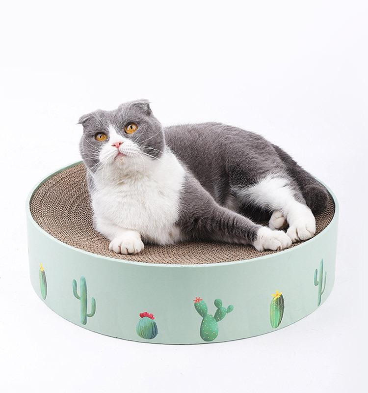 Cat Round Scratch Pad Corrugated Paper Scratcher
