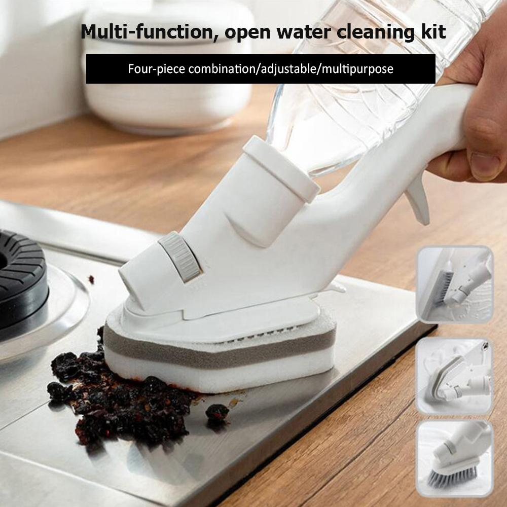 5-In-1 Press Water Spray Cleaning Brush