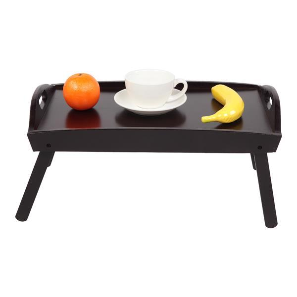 Foldable Curved Breakfast Tray Brown