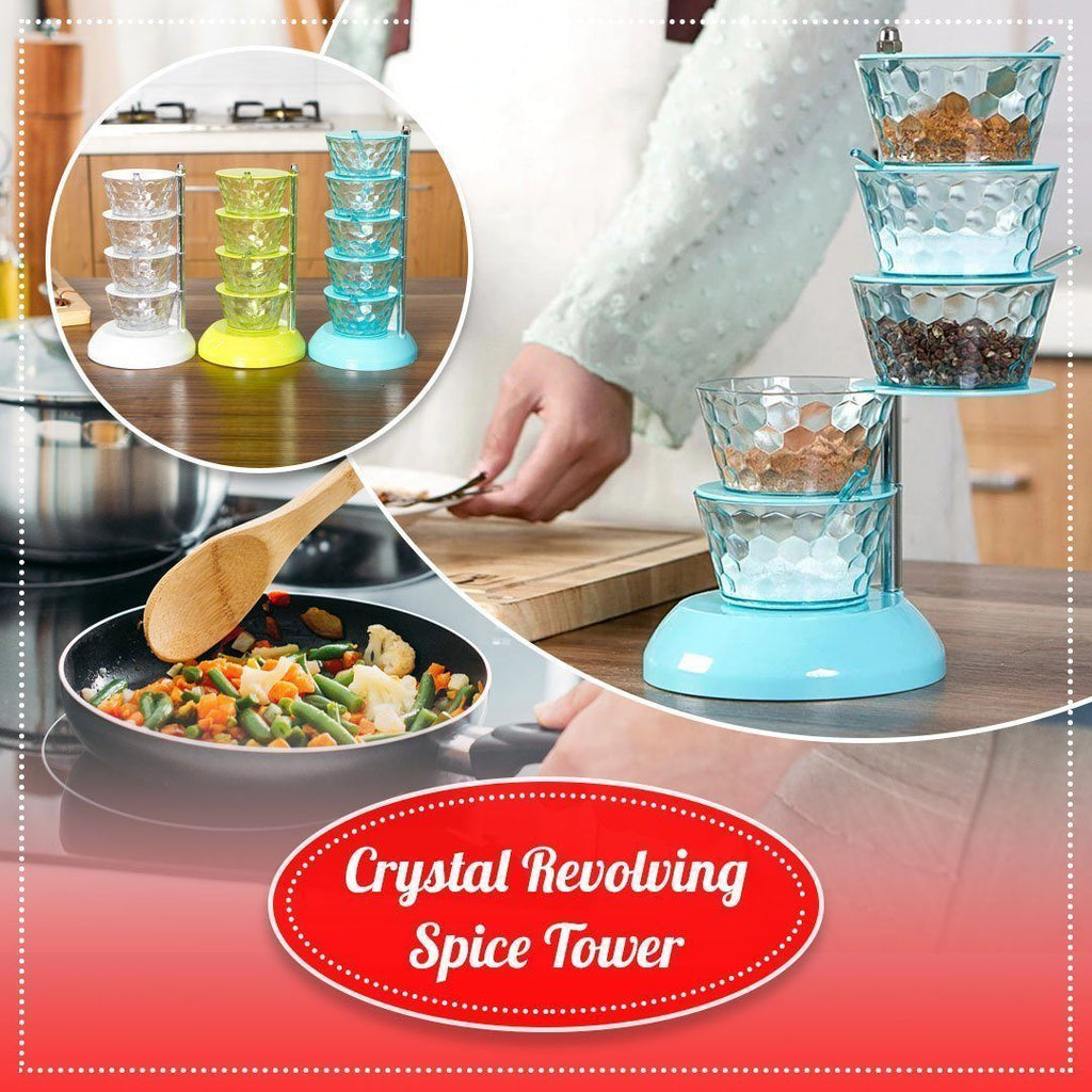Crystal Revolving Spice Tower