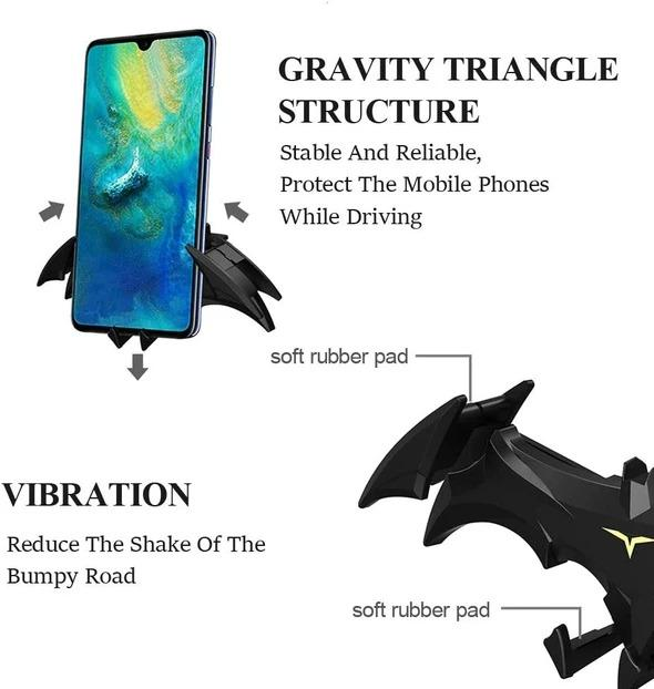 Batwings Car Phone Holder