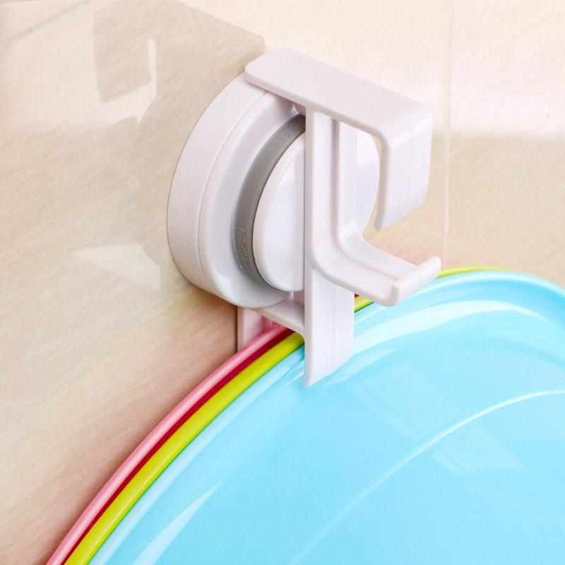 Traceless Suction Cups Wash Basin Hook (2pcs)
