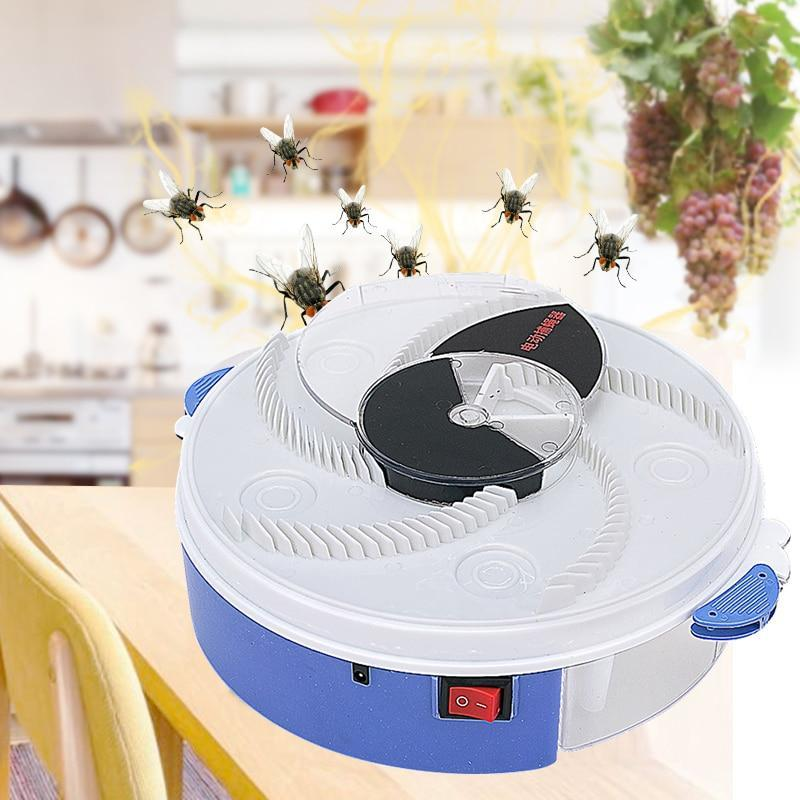 Electric Flycatcher Fly Killer Environmentally Automatic Rotary Catcher Repellents