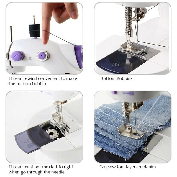 ⏳⏳ -(Factory Outlet-40% OFF!!) Mini Sewing Machine+Optional Kit 🔥🔥
