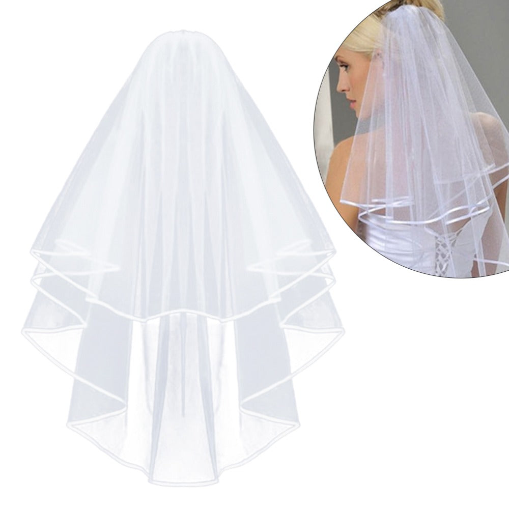 Simple Short Tulle Wedding Veils Cheap 2019 White Ivory Bridal Veil For Bride For