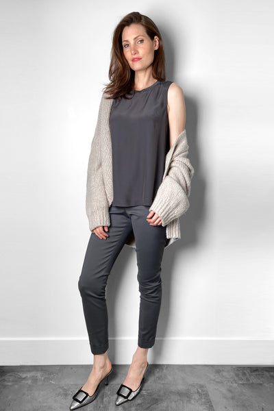 Lorena Antoniazzi Grey Techno Stretch Pants