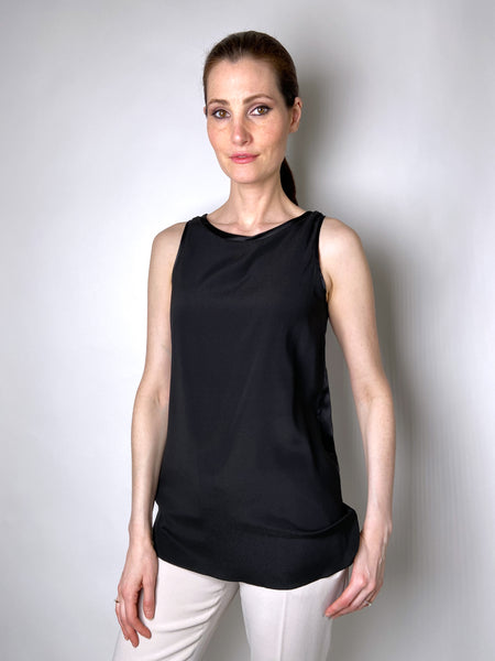 Les Copains Black Tank Top - Shiny Back
