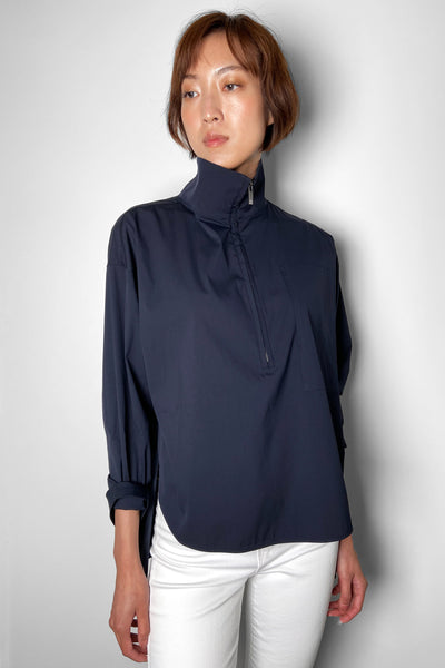 Lorena Antoniazzi Navy Cotton Techno Turtleneck Shirt. (Last One, Size 48)