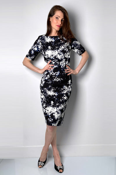 Samantha Sung Graphic Palm Trees Dress