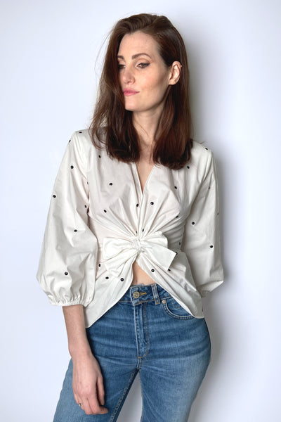 Philosophy di Lorenzo Serafini Polka Dot Blouse with Bow