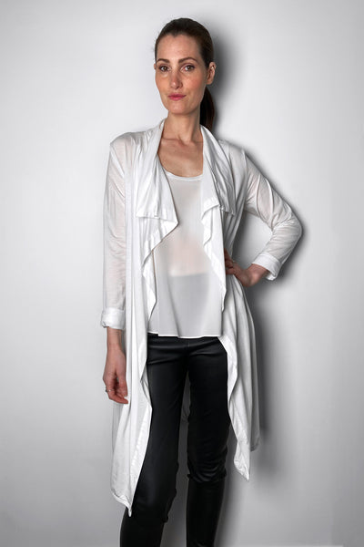 Peter O. Mahler Flowing White Cardigan