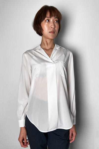 Lorena Antoniazzi White Silk Shirt