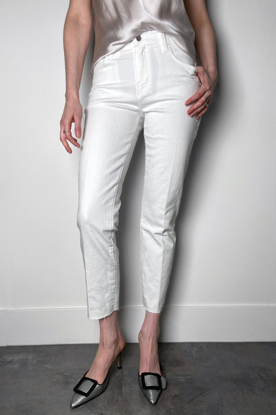 L'Agence White Straight Cut Jeans