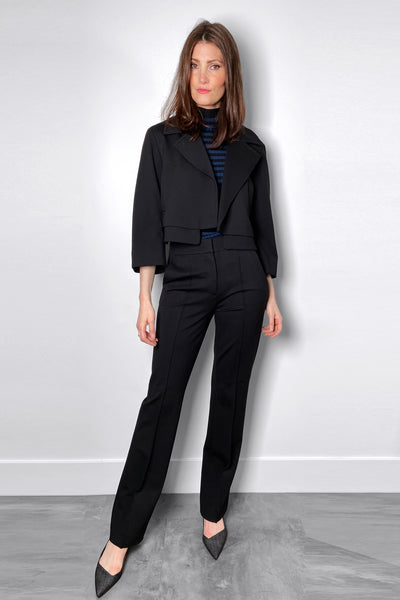 Dorothee Schumacher Straight-Cut Black Emotional Essence Pants
