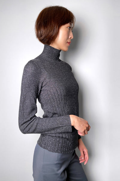 Lorena Antoniazzi Sparkly Charcoal Turtleneck