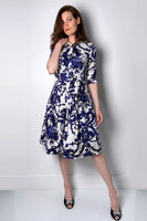 Samantha Sung Filigree Pattern Shirt Dress