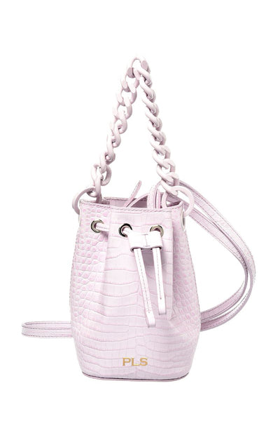 Philosophy di Lorenzo Serafini Pink Crocodile Bag