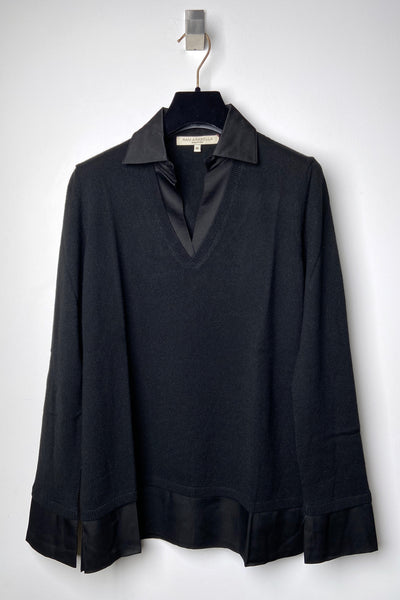 Rani Arabella Black Polo with Silk Details