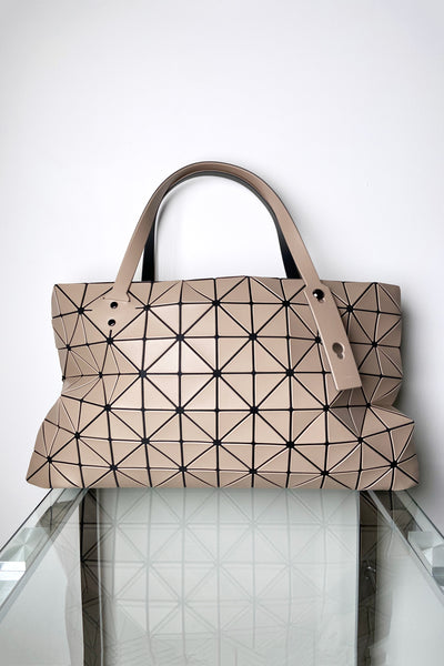 Bao Bao Large Matte Taupe Zipper Bag