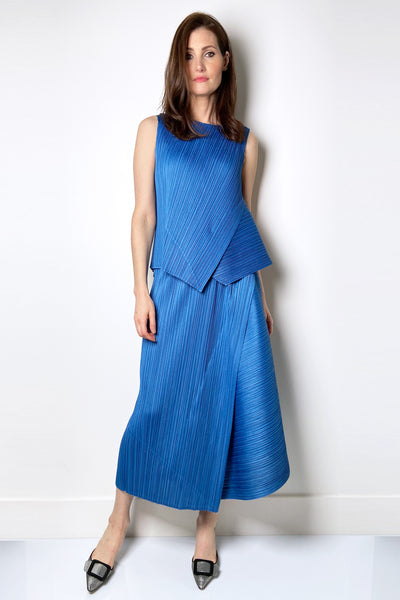 Pleats Please Long Blue Skirt
