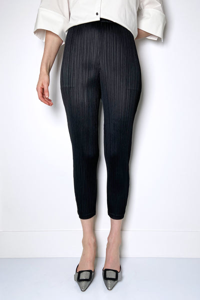 Pleats Please Black Leggings