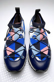 Emilio Pucci Abstract Print Fabric Sneakers
