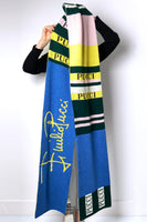 Emilio Pucci Blue Green and Yellow Signature Scarf