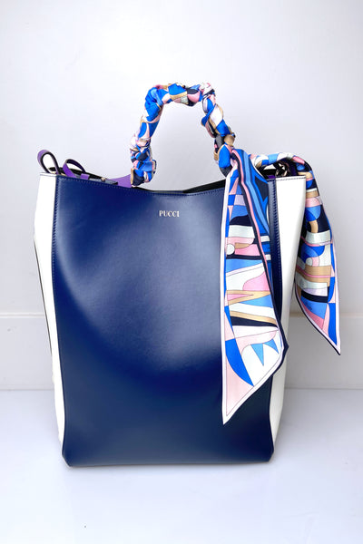 Emilio Pucci Leather Bag with Silk Scarf