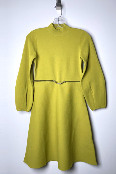 HIGH Chartreuse Dress with Bubble Arms