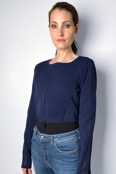HIGH Navy Cropped Cardigan