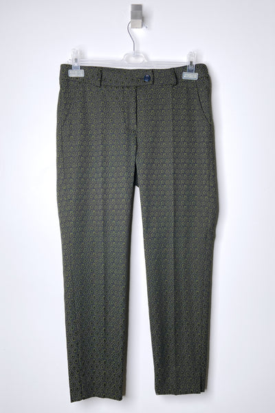 Maison Common Green Star Print Trousers