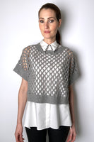 Fabiana Filippi Transparent Grey Knit with Micro Paillettes