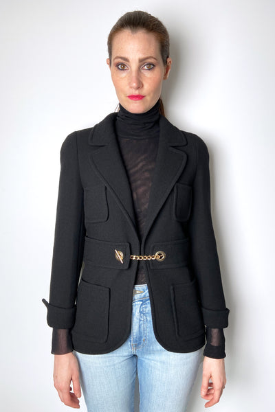 Edward Achour Black Military Jacket
