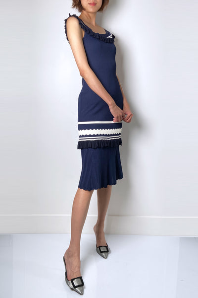 Jonathan Simkhai Navy Dress
