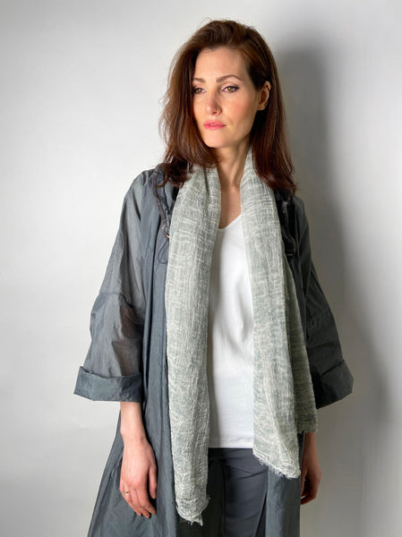 Rundholz Wrinkly Grey/Green Scarf