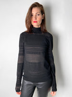 Dorothee Schumacher Black Transparent Detail Turtleneck. (Last One, Size 6)
