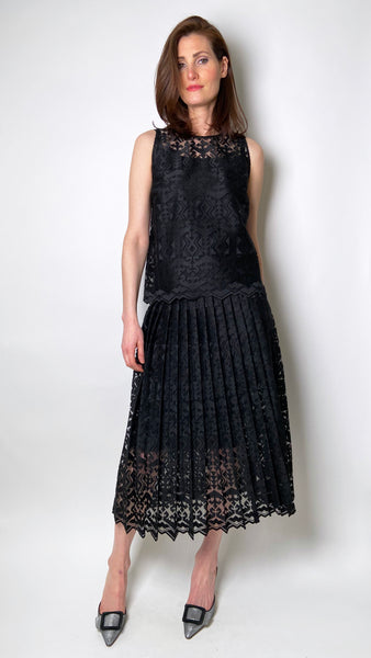 D. Exterior Black Tribal Lace Skirt