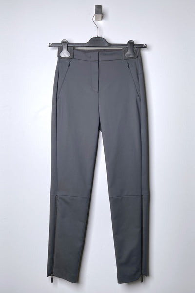 Lorena Antoniazzi Grey Techno Stretch Pants with Zippers