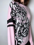 Dorothee Schumacher Pink Tiger Print Sweater. (Last One, Size 3)