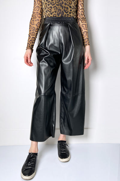 Fuzzi Vegan Leather Pull-On Pants