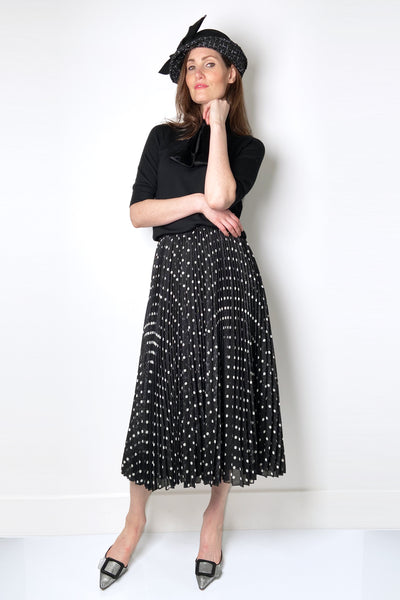 Red Valentino Polka-Dot Skirt