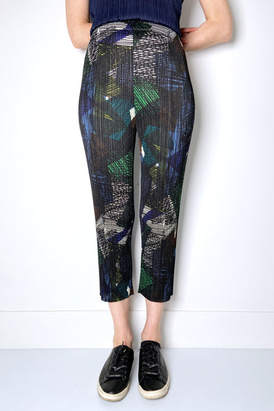 Pleats Please Abstract Forest Tones Pants