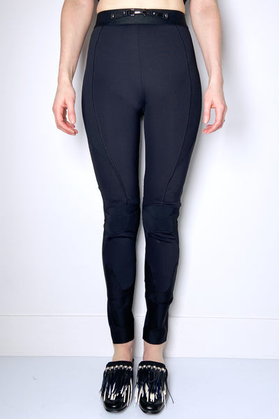 HIGH Black Moto Leggings