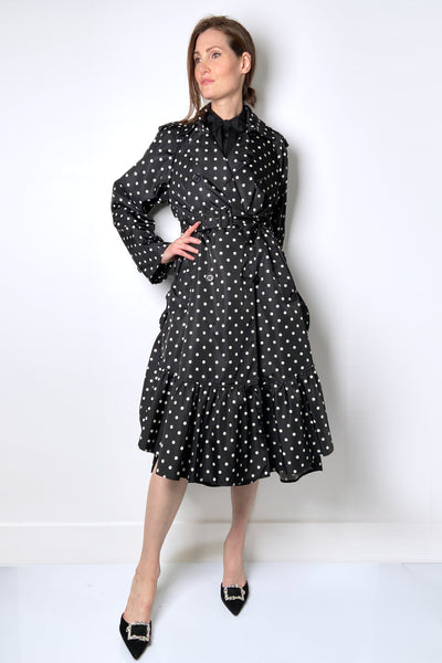Red Valentino Polka-Dot Trench Coat