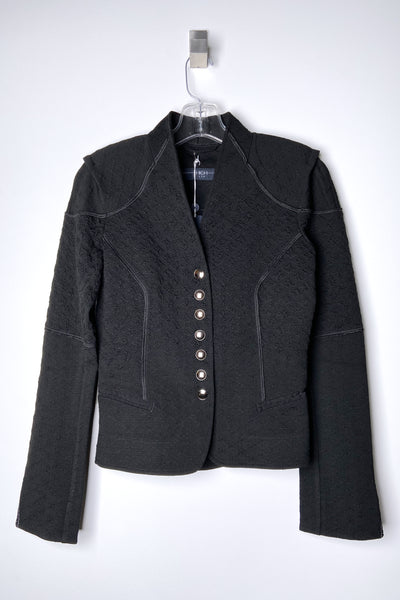 HIGH Black Brocade Cardigan