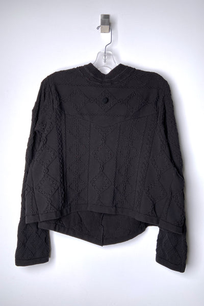 HIGH Textured Black Pullover