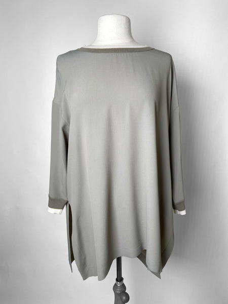 Lorena Antoniazzi Sage 3/4 Length Top. (Last One, Size 46)