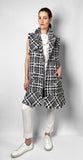 Edward Achour Black and White Vest Dress